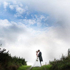 The countryside that surrounds Upwaltham Barns is perfect for wedding photos