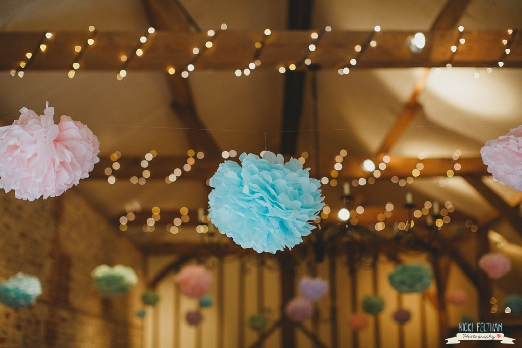 Wedding Pompoms - Nick Feltham Photography