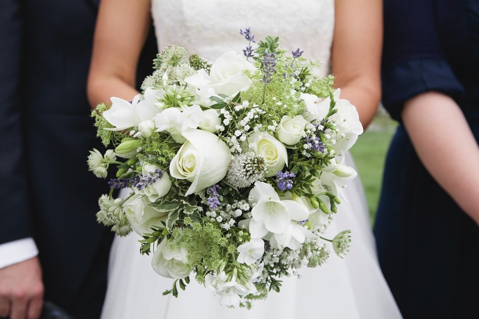 Lavender Wedding Bouquet by Spriggs The Florist