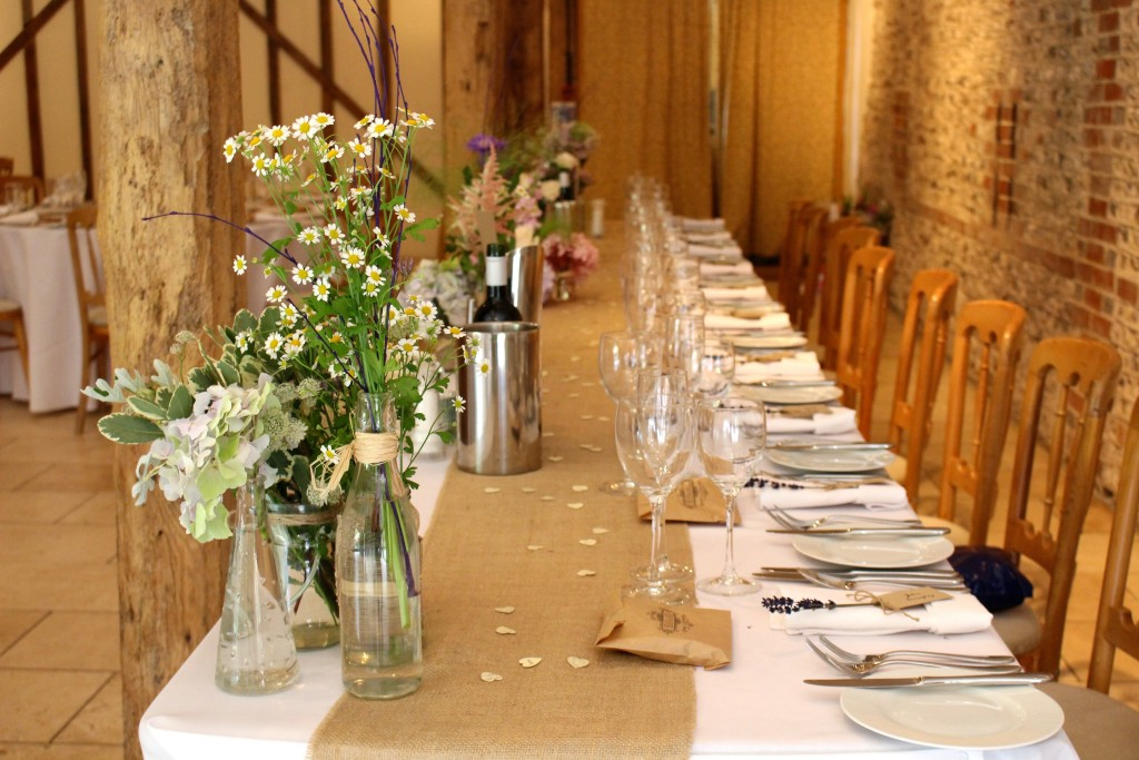 Top Table Wedding Flower Ideas