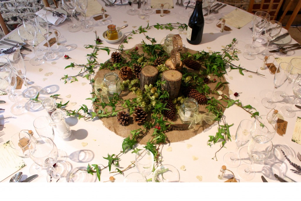 Woodland Wedding Centrepiece