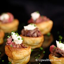 Enjoy delicious homemade wedding food from the catering team at Upwaltham Barns