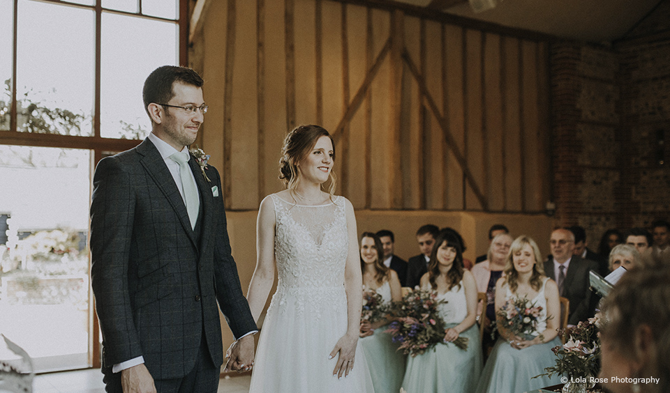 Susan & Leigh's Relaxed Spring Wedding at Upwaltham Barns