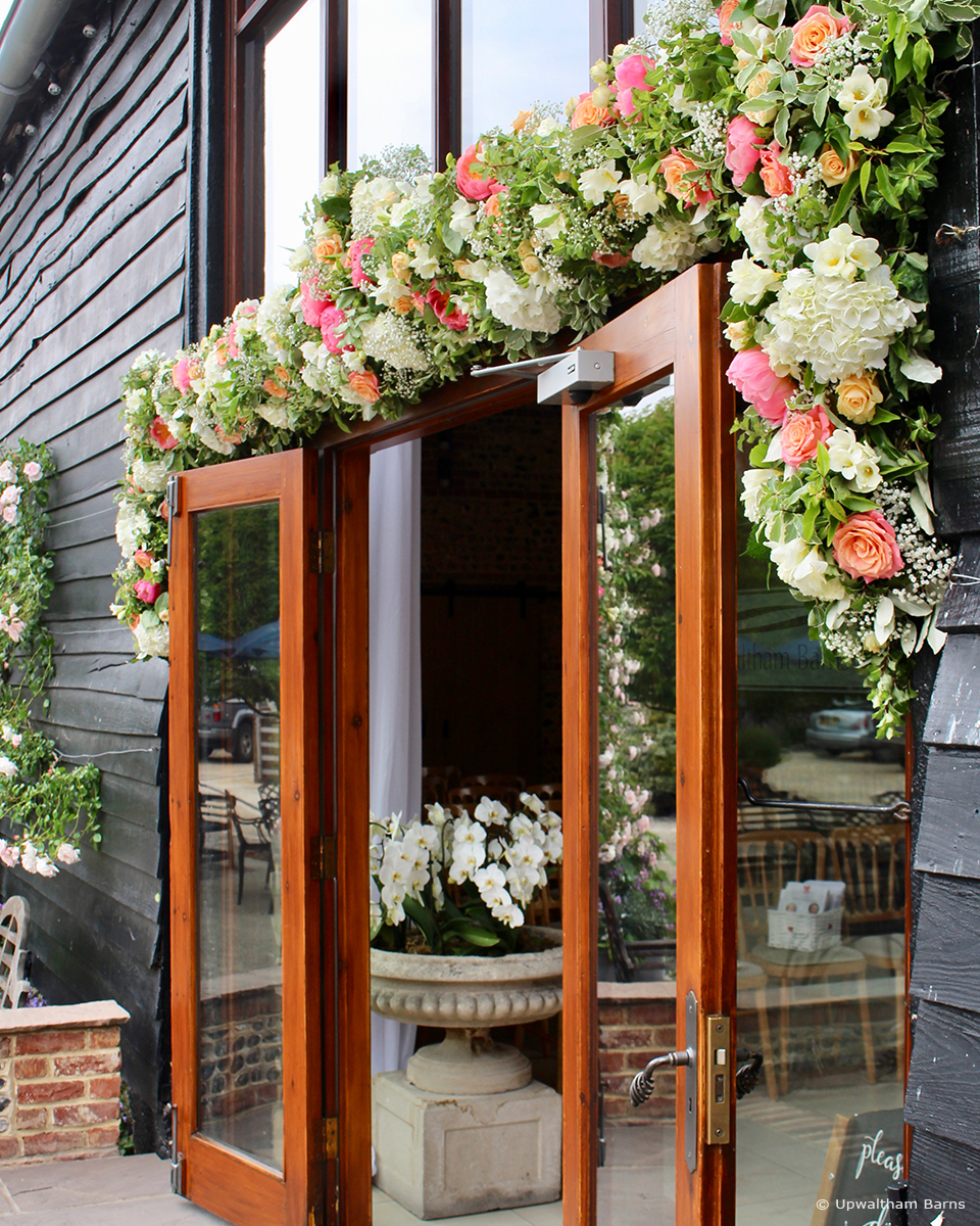 Our favourite wedding flower ideas at Upwaltham Barns