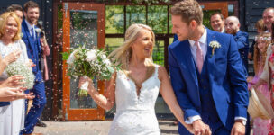 bride-and-groom-confetti-upwaltham-barns