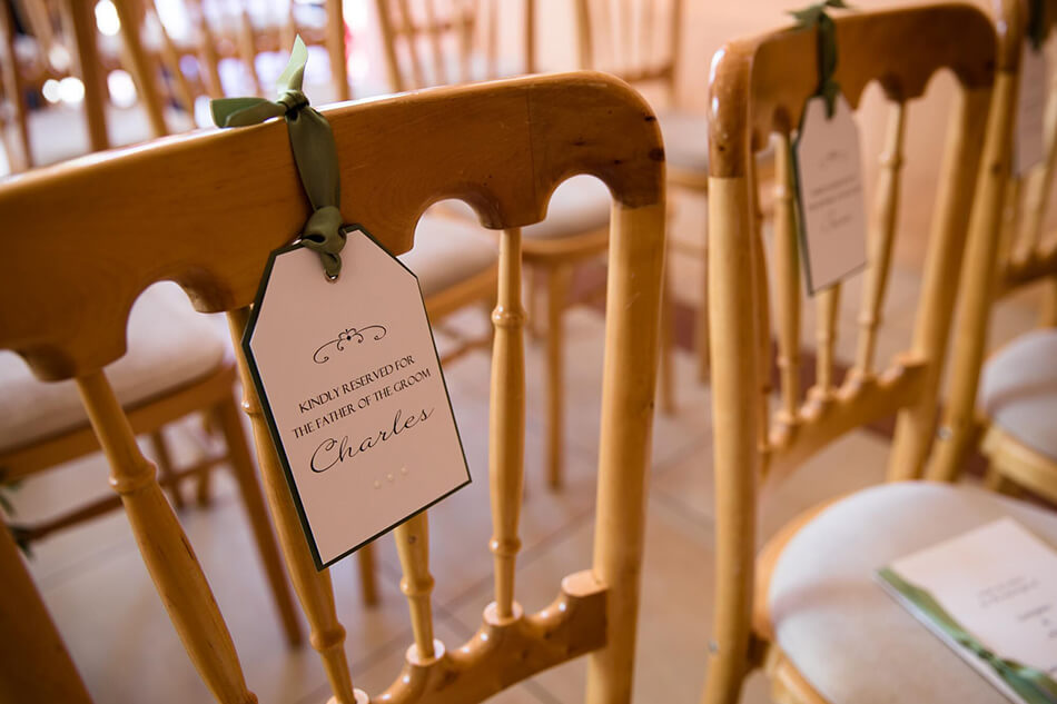 reserved seating wedding inspiration
