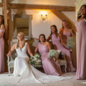 The Bride and bridesmaids before the ceremony