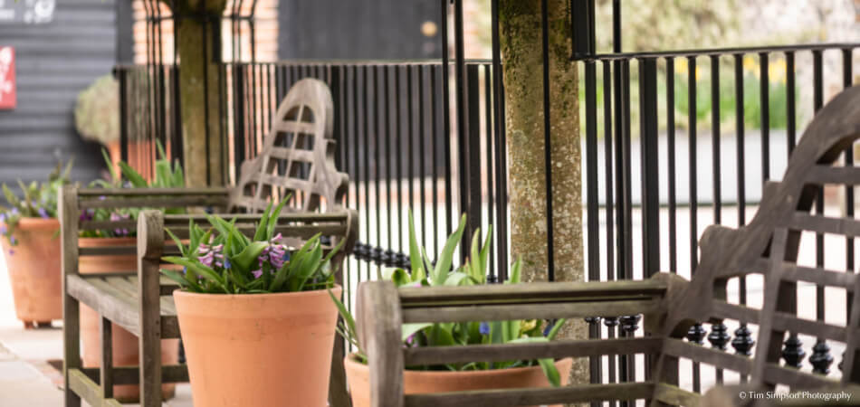 If you fancy an outdoor drinks reception your wedding guests will enjoy the spacious Courtyard