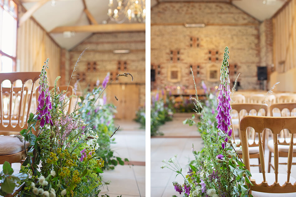 East Barn decorated with flowers